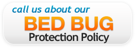 Call us about our bed bug Policy